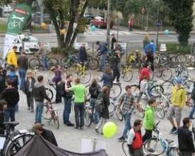 Messe med brugte cykler i Graz, Østrig