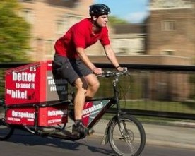 Gratis levering med transportcykler i Cambridge