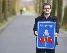 Belgien først med officielt Cykelgade skilt!