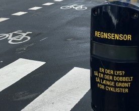 Regnsensor for cyklister i Odense