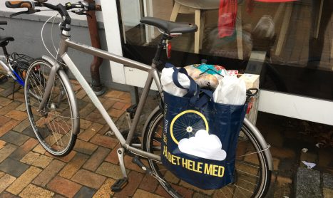 Indkøb på cykel