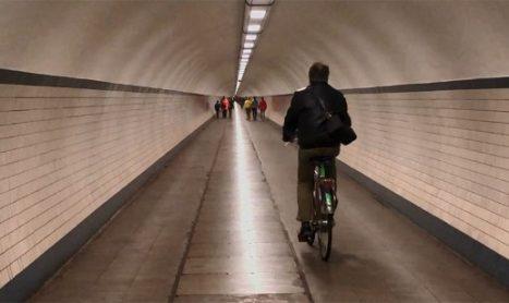 Cykeltunnel i Antwerpen